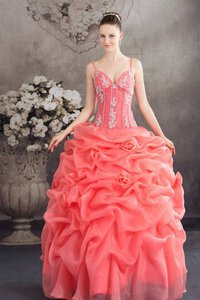 Abito Quinceanera Radiosa con Increspature con Applique Conotta