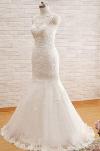Abito da Sposa Naturale in Tulle All Aperto Originale Shiena Sheer
