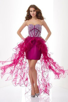 Abito Homecoming Cuore in Tulle con Perline Mini in Raso Satin Elastico