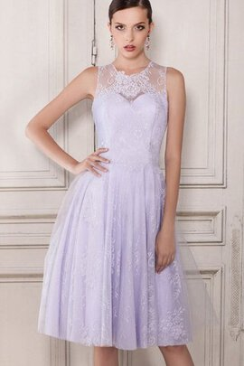 Abito Homecoming con Increspato Lusso con Increspature in Pizzo in Tulle