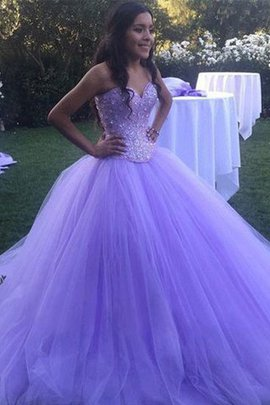 Abito da ballo speciale in tulle con perline ball gown naturale cuore