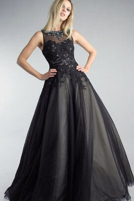 Abito Da Ballo Lupetto con Applique in Tulle con Perline A-Line