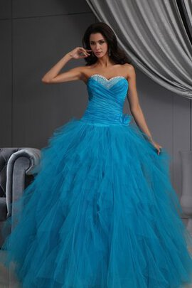 Abito Quinceanera Ball Gown con Increspature in Tulle A-Line con Increspato